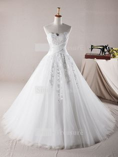 White Sleeveless Beach/ Destination Satin Corset-back Ball Gown Wedding Dress