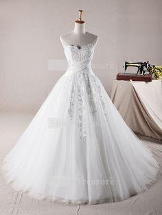 White Sleeveless Beach/ Destination Satin Corset-back Ball Gown Wedding Dress