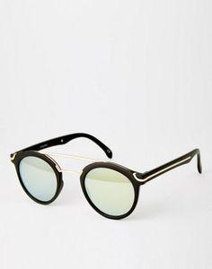 ASOS - Occhiali da sole rotondi con ponte in metallo 19b6194124f