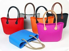 The O bag by Fullspot. Numerous colours and interchangeable handles. #Womens #handbags #fashion