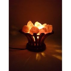 New!! Wooden Basket salt lamp – Happy Kombucha only £27.99