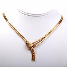 0.75 cts Vintage Italian Diamond 18k Yellow Gold Necklace, 55.4 Grams