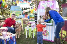 Visiting the Sweet Shoppe during the Carnival party. #Carnivalparty #BirthdayExpress #kids #party