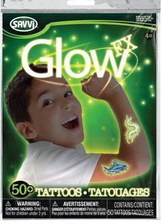 Детские татуировки для мальчиков, светящиеся втемноте, 50 штук