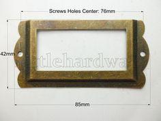 High Quality Big 5 antique brass color card holderlabel holdersLabel Framesname holdersname card holdercard caseplace card holder