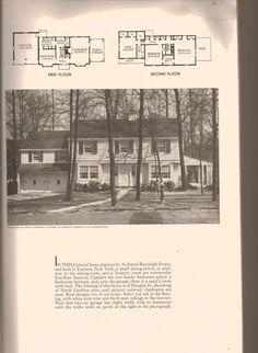 1938 Cape Cod floor plandesign Home Designs Pinterest