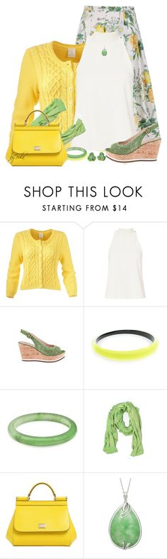 """Wedges for Spring (Outfit Only)"" by eula-eldridge-tolliver ❤ liked on Polyvore featuring A.L.C., Alexis Bittar, Mud Pie and Dolce&Gabbana"