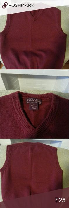 BROOKS BROTHERS Sweater vest Burgundy or wine color boys v-neck sweater vest Brooks Brothers Shirts & Tops Sweaters