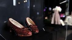 Ruby slippers and gingham dress from The Wizard of Oz. Photo by Gareth Cattermole Dorothy Shoes, Colleen Atwood, Hollywood Costume, V & A Museum, Ruby Slippers, Costume Collection, Movie Costumes, Gingham Dress, Loafers Men