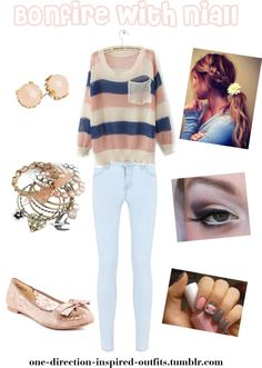 """Inspired - Bonfire with Niall"" by one-direction-inspired-outfits ❤ liked on Polyvore"