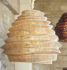 Roost Bamboo Cloud Chandeliers   Roost Hanging Lamps – Modish Store
