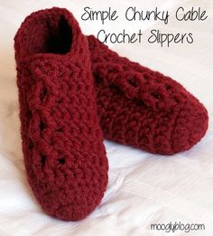 These Sixty Minute Crochet Slippers are a quick free crochet pattern to work up in just an hour or less! Start with a magic circle, and soon you'll have an accessory to keep your feet warm all winter. Instructions are available for multiple sizes.