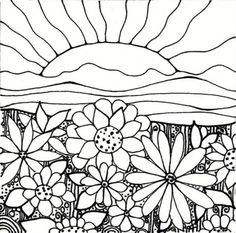 1000 images about how to draw on pinterest how to draw for Flower garden coloring pages printable
