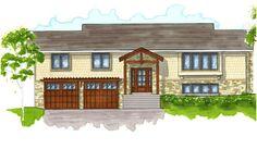 Split-Level Homes Before and After | 1970's Split Entry Remodel & Exterior Update : Renovation Design Group