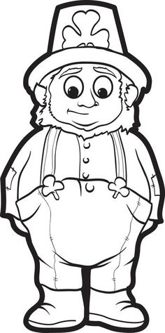 leprechaun coloring page 2 coloring and for