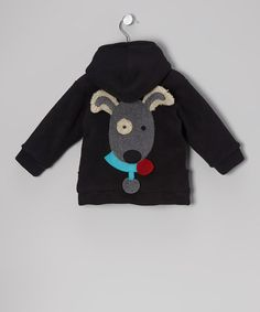 Take a look at this Black Fleece Zip-Up Hoodie - Infant, Toddler & Kids by Corky & Company on #zulily today!