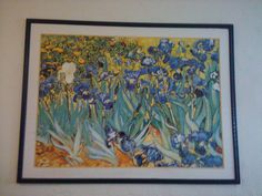 VanGhoe Irises sofa painting in sellitall's Garage Sale in Hyrum , UT for $20.00. in a frame but glass is long gone. Claasic beautiful oversized sofa painting.