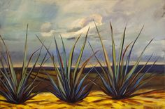 Tequila Agave I, Limited Edition Giclee Print of Original Acrylic Painting on Canvas, hand signed and numbered. Tequila Agave, Downtown Santa Barbara, Acrylic Painting Canvas, Large Prints, Watercolor Paper, Giclee Print, Succulents, Fine Art, Image