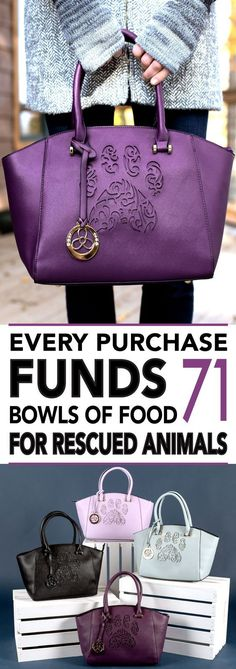 I love the purple tote, have a number of gifts received from this site. The quality is excellent and I have loved everything. Plus most of the items are reasonably priced and proceeds go to animals in humane shelters.
