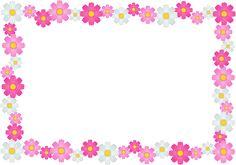 Image result for pink flower frame png
