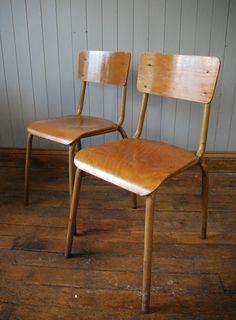 #StackingChairs #VintageFurniture #French #Tubular #Chairs #SchoolChairs #School #Stacking #Vintage