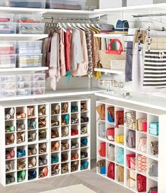 Cubby Storage - Small cubbies store a wide variety of smaller items and accessories