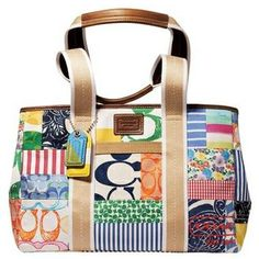 Coach Hamptons Weekend Patchwork Tote, I still love this tote and I have the matching sneakers.