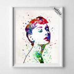 Baby Girl Nursery, Audrey Hepburn Print, Nursery Art, Art Print, Watercolor Art, Gift Idea, Art Poster, Giclee Decor, Type 3, Wall Art. PRICES FROM $9.95. CLICK PHOTO FOR DETAILS.#inkistprints #watercolor #watercolour #giftforher #homedecor #wallart #walldecor #poster #print #christmas #christmasgift #weddinggift #nurserydecor #mothersdaygift #fathersdaygift #babygift #valentinesdaygift #painting #dorm #decor #livingroom #bedroom