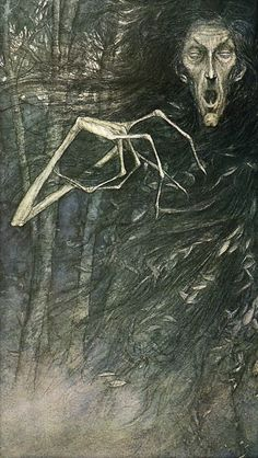 """The spirit of the birch tree is called """"The One with the White Hand"""" If it touches a head it leaves a vivid white mark and inflicts madness, but if it touches a heart it is the touch of death. - From Faeries by Brian Froud and Alan Lee (1979)."""