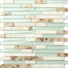 TST Glass Conch Beach style Mother Of Pearl Tile Resin Glass Tile Aqua White Stone Marble Tile Kitchen Backsplash Deco Bathroom Wall Art Stone Kitchen, Gold Kitchen, Kitchen Tiles, Glass Kitchen, Beach House Decor, Home Decor, Beach Houses, Art Decor, Glass Mosaic Tiles
