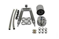 Dual Oil Cooler Kit For Harley Davidson FLT 1998-UP Bagger Bobber  #VTwinManufacturing