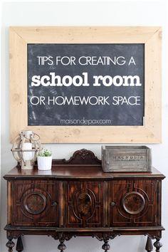 creating a homework space