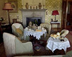 Tea in Lanhydrock House, Cornwall