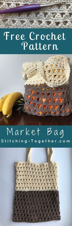 This crochet grocery bag will be perfect for the Farmers Market this summer! Not only is it a green DIY but this market bag is also so stylish. You can start on this market tote today with the free crochet pattern and Lion Brand 24/7 cotton yarn.
