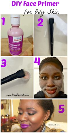 DIY Face Primer for Oily Skin: Calamine Lotion DIY Face Primer for Oily Skin: Calamine Lotion – Lisa a la mode Organic Skin Care For best products for combPrimers for Oily Skin Tha Diy Face Primer, Primer For Oily Skin, Moisturizer For Oily Skin, Oily Skin Care, Oily Skin Makeup, Oily Skin Remedy, Oily Hair, Best Face Primer, Best Foundation For Oily Skin