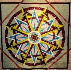 Mariner's Compass, Quiltworx.com, Made by CI Cindy Myers.