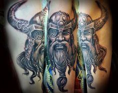 Vikings are some of the coolest and most interesting figures in history, still having a cultural impact today. Norse mythology inspired the creation of the Thor Tattoo, Norse Tattoo, Viking Tattoos, Celtic Tattoos, Arm Tattoo, Tattoo Flash, God Tattoos, Tattoos Skull, Life Tattoos