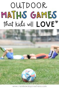 Read this blog post about 5 different games that combine physical activity and learning. Combine some time outdoors with maths games that kids of all ages are bound to love. #rainbowskycreations
