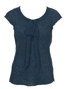 Shirtbluse aus Webstoff, schräger Fadenlauf