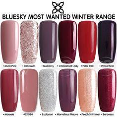 Bluesky MOST WANTED WINTER RANGE UV LED Soak Off Gel Nail Polish 10ml FREE P&P