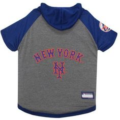 Pets First MLB New York Mets Hoodie Tee Shirt, Multicolor