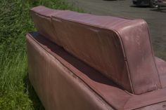 Back Rest Leather Detailing in Cast Concrete Sofa by Four Eight Eight