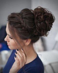 penteado madrinha de casamento cabelo longo coque com trança