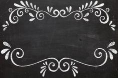 Quadro Negro / Lousa Vintage - Grátis Molduras Convites Rótulos Lembrancinhas…
