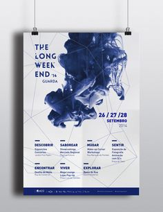 Poster to dysplay the event Branding Portfolio, Lounge, Long Weekend, Visual Identity, Culture, Activities, City, Three Days, Poster