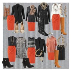 """""""Cabi Fall '15!  www.amberstricklin.cabionline.com.  Putting together some outfit options for a client. She's looking for orange to cheer on her OSU Cowboys at church."""" by amber-harris-stricklin on Polyvore featuring Astek, CAbi, Report, Steve Madden and Kurt Geiger"""