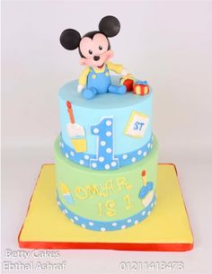 Baby Mickey Mouse cake - Cake by BettyCakesEbthal
