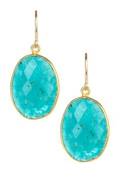 mariechavez  Russian Amazonite Drop Earrings