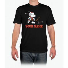 Snoopy Hockey - Personalized - Men T-Shirt