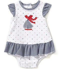 Little Me Baby Girls Months Sailboat-Motif Nautical-Print Skirted Bodysuit Easy Baby Sewing Patterns, Kids Clothes Patterns, Baby Girl Dress Patterns, Little Girl Dresses, Skirt Patterns, Coat Patterns, Blouse Patterns, Baby Girl Fashion, Kids Fashion
